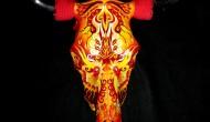 Bull Skull   |  Acrylic on Skull