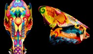 Javelina Skull |  Acrylic on Skull