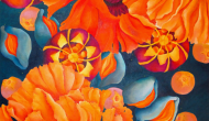 Poppy Seed     36 x 36 inches     Acrylic