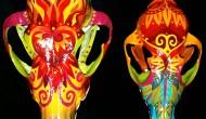 Coyote Skulls    Acrylic on Skull
